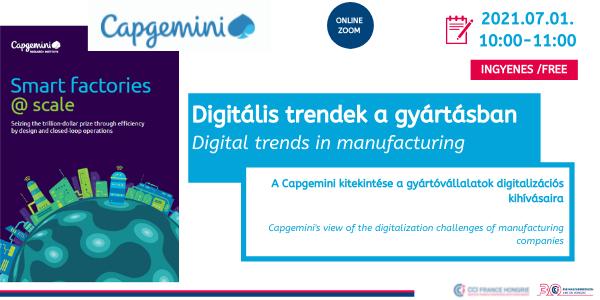 Digitális trendek a gyártásban