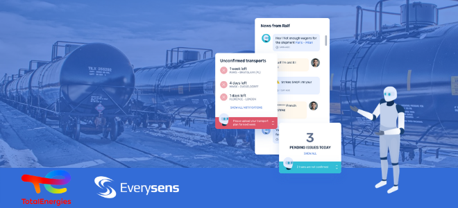Total has signed a contract with Everysens to deploy its Transport Management System software powered by artificial intelligence